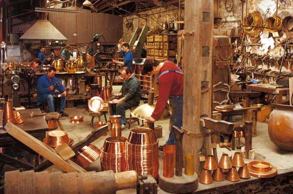 Atelier du cuivre a Villedieu