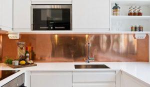 meuble en cuivre cuisine